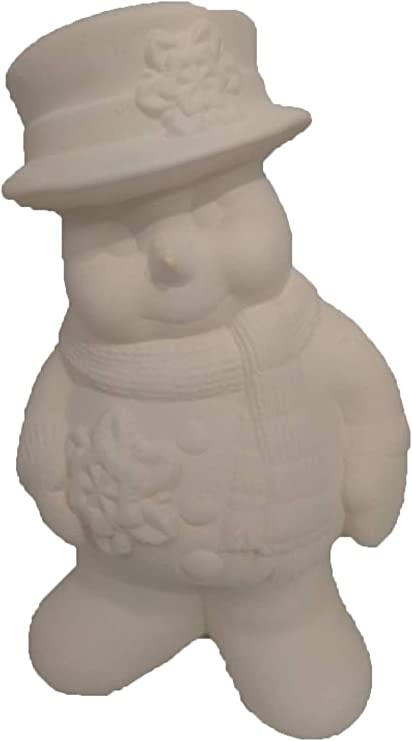 Snowman 9 Ceramic Bisque Ready to Paint