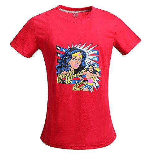 Justice League Wonder Woman Pop Art T-Shirt for women (2XL, (Plus Size Superhero)