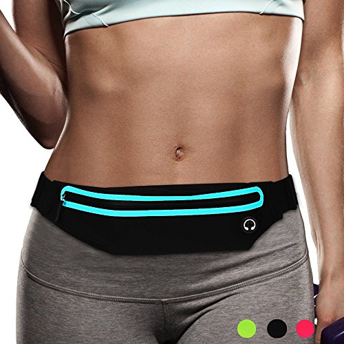 Filoto Running Belt, Water Resistant Running Waist Pack for Women and Men, Fitness Workout Adjustable iPhone Xs Max X 8 7 6 Belt Sport Pouch (Womens Running Pack)