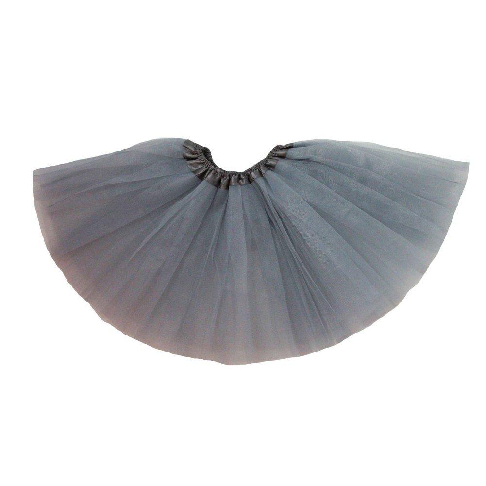 Little Girls Gray Satin Elastic Waist Ballet Tutu Skirt 2-8Y Dress Up Dreams Boutique 17506