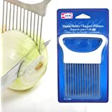 1 New Onion Holder Slicing Guide Stainless Steel Prongs Holds Slice Aid Cutting