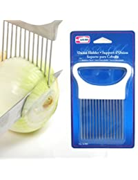 Gain 1 New Onion Holder Slicing Guide Stainless Steel Prongs Holds Slice Aid Cutting wholesale