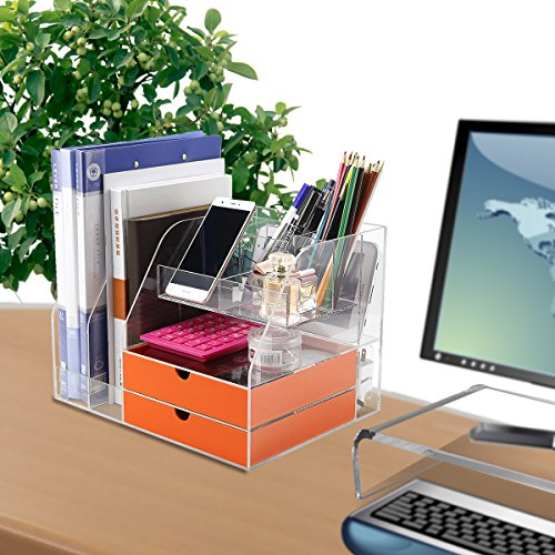 Office Cute Pencil Cup Holders Grey Stand On The Desk Pen Organizer Caddy Desktop Supplies Storage Sort Your Office Small Items - - Holder Eldon Pencil