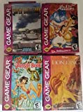 4 Lot of Sega Game Gear Games - Aladdin, The Loin King, Jungle Book, and Super Battletank