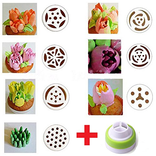 [NEW 7pcs Russian Tulip Flower Stainless Steel Icing Piping Nozzles Cake DIY Tool Set #63] (Donut Costume Pinterest)
