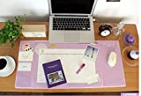 Desk Mats Large Size Gaming Mouse Pad Protector Laptop Desk Pads with Pockets and Dividing Rule Scale (Purple)