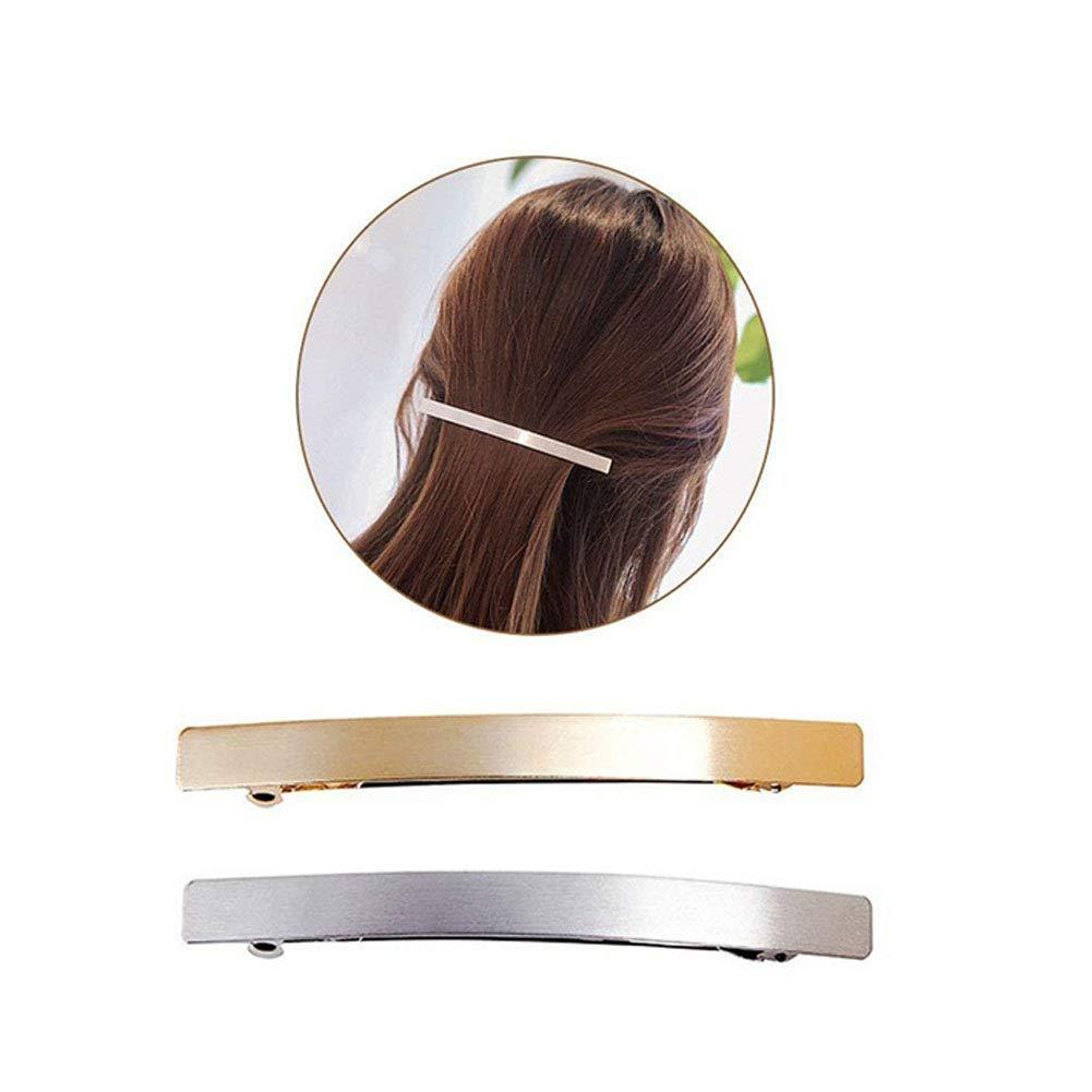 "Women Ponytail Holder  Hair Clip Hair Claw Brown 4/"" Long  2PCS"