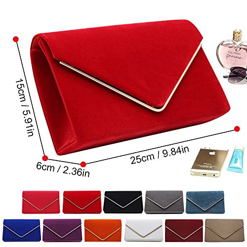 Wocharm Bag Party Evening Ladies Prom Orange Brand Bridal Suede velvet New Pleated Luxury 1 Womens Handbag Clutch prSqWwfp4