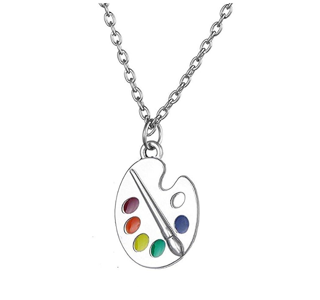 VASSAGO Fashion Emaille Künstler Pinsel Anhänger Halskette Geschenk für Damen & Mädchen YiYou B07DQ7GTJ1_US