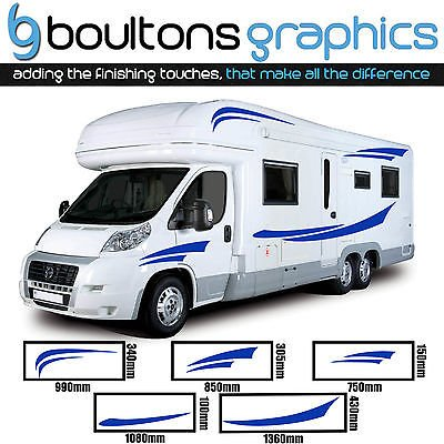 Motorhome stripes camper van horsebox caravan decals vinyl sticker graphic ss1