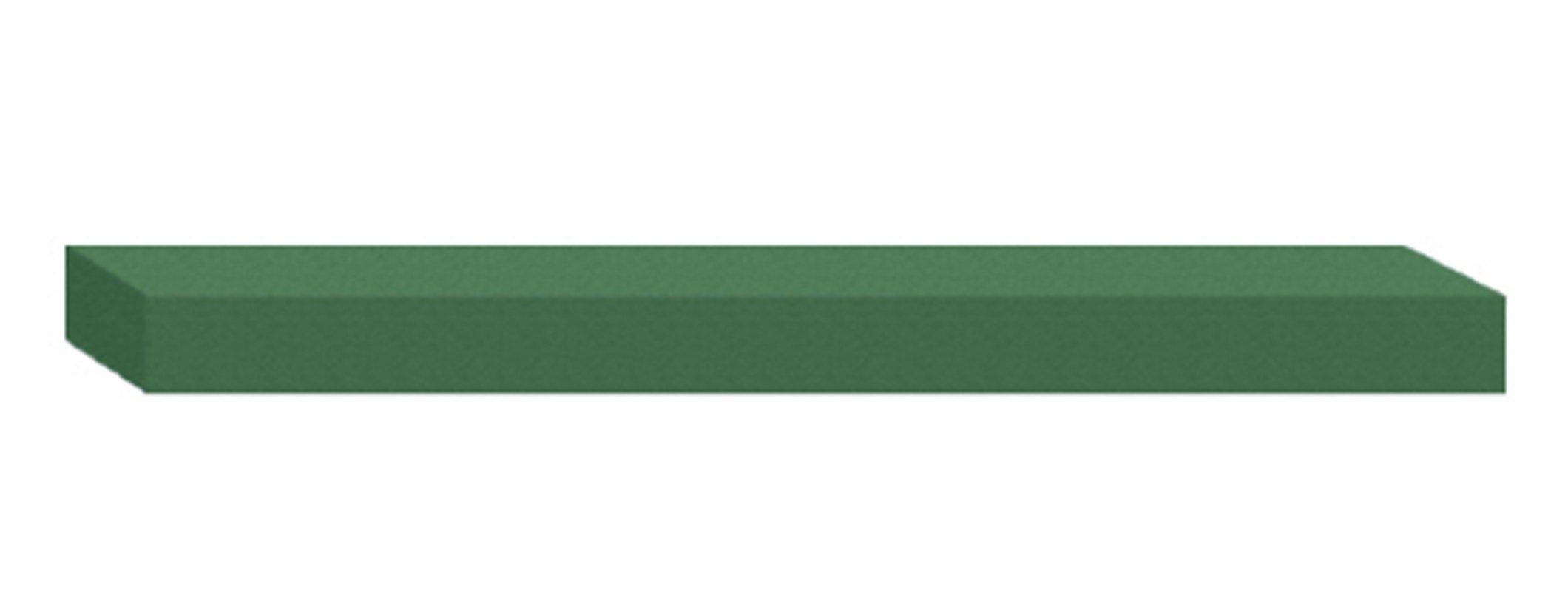 Dedeco 0208 Rubberized Abrasive Block/Stick, Silicon Carbide, Medium, 6'' x 1'' x 1/4'', Green