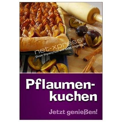 Net-Xpress® Pflaumenkuchen-Plakat para Panadería, Pastelería ...