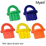 Myard MIX Pack (5 Sizes X 4 ea, Total 20 pcs) Deck Board Jig Spacer Rings for Pressure Treated, Composite, PVC, Plank, Hardwood Decking Tool