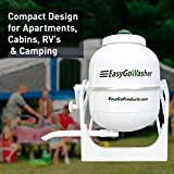 EasyGoProducts EGP-LAU-012 EasyGo Manual Clothes Washer-Mobile Hand Powered-Portable Washing Machine, White