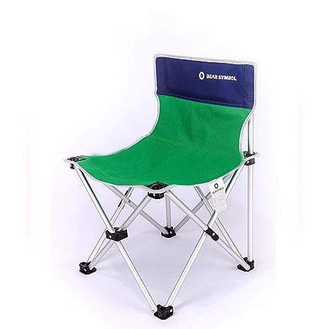 Silla Plegable Camping Plegable Ideal para Acambaca Senderismo Viaje Caza Pesca,Green