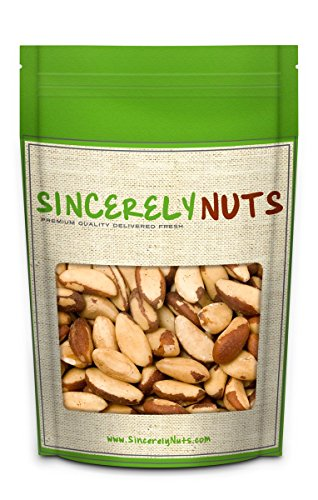 Sincerely Nuts Brazil Nuts Roasted & Salted No Shell - Incredibly Amazing Taste and Freshness - Packed With Healthy Nutrients - Kosher