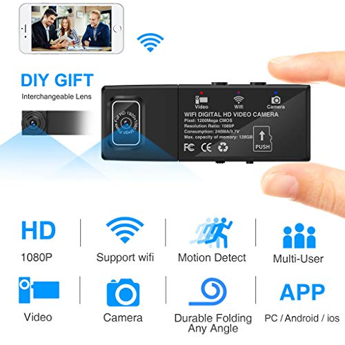 Lljin Wi-Fi HD 1080P Wireless Security Nanny Cam Remote View with Motion Detection