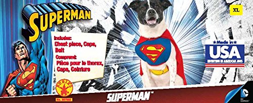 Rubie's DC Comics Pet Costume, Superman, Small by Rubie's (Image #3)