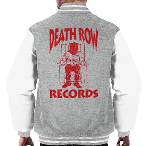 Death Row Records Chair Logo Red Men's Varsity Jacket (Varsity Tupac Jacket)