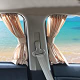 BELUPAI Car Window Curtain, 2 x 50L Adjustable Car Window Sun Shades Blinds Back Seat Shades Curtains Drape Visor Valance Curtain Universal Car Curtains Fit for Cars Trucks