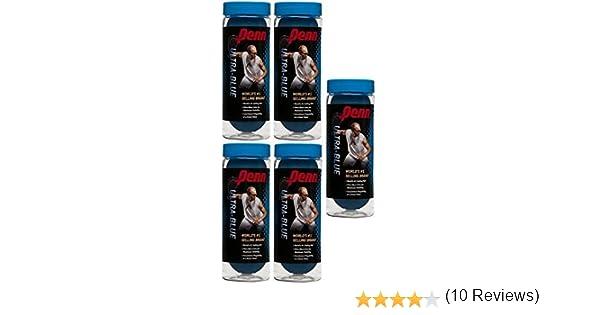 Penn ultra-blue Racquetballs, Five cans, Azul: Amazon.es: Deportes ...