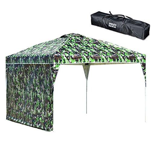 옷장의 겐 [원터치! 타프 텐트] ENDLESS BASE [3m × 3m (사이드 시트 포함)] 방수 가공 UV 컷 통풍구가있는 3 단계 조절 (팩, 로프 포함, 전용 수납 케이스 포함) 19000014
