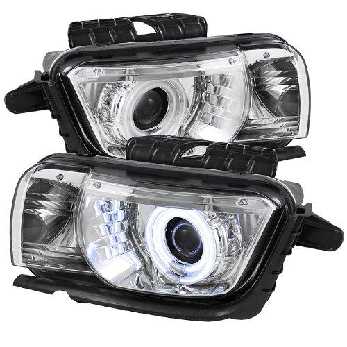 Spyder Auto PRO-YD-CCAM2010-CCFL-C Chevy Camaro Chrome Dual CCFL Halo Projector (Chevy Camaro Headlight Headlamp)