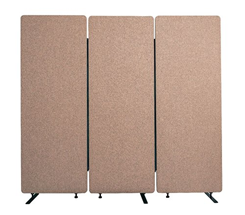 Offex 3 Pack Acoustic Room Partition Dividers in Desert Sand   B07FQSPNF9