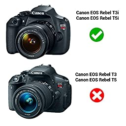 Kapaxen ACK-E8 AC Power Adapter Supply Kit For Canon EOS Rebel T5i / T4i / T3i / T2i / 700D / 650D / 600D / 550D / Kiss X6 / Kiss X5 / Kiss X4 DSLR Cameras