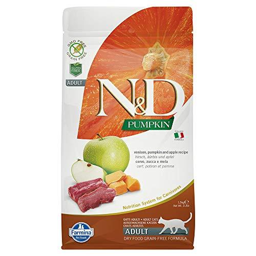 (Farmina Natural & Delicious Pumpkin, Apple and Venison Grain Free Dry Cat Food 3.3 Pounds)