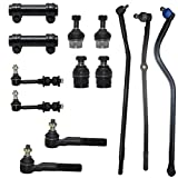 13pc Front Inner Outer Tie Rod Links Upper & Lower Ball Joints, Sway Bars, Track Bar & Adjustment Sleeves - Left & Right for 1996-1997 Dodge Ram 2500 Dana 60 4WD - [96-97 Dodge Ram 3500 4x4 DANA 60]