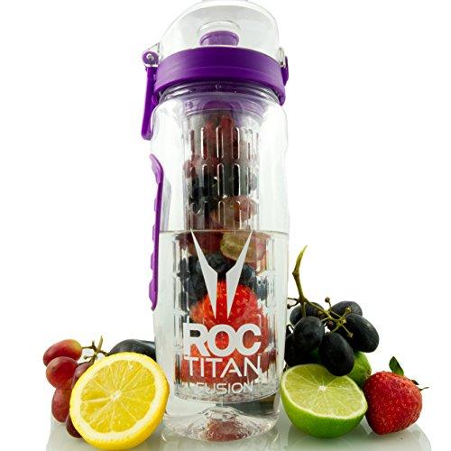 ROC Titan Premium Fruit Infuser Water Bottle Large 1 Litre,...