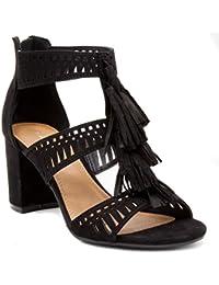 Ruby Tasselled Open Toe Dress Shoe Heeled Sandal