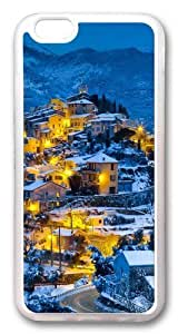 Beautiful christmas village Custom Case For Samsung Note 3 Cover PC Transparent