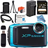 Fujifilm FinePix XP120 Digital Camera Bundle (64GB, Sky Blue)
