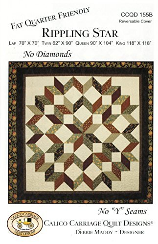 Rippling Star Quilt Pattern, No Diamonds, No