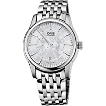 Oris Artelier Regulateur Automatic Stainless Steel Mens Watch Silver Dial 749-7667-4051-MB