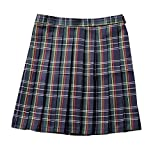 dufu-beauty-store Women High Waist Pleated Plaid Costume Skirt