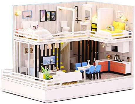 1:24 Cool Beans Boutique Miniature Dollhouse DIY Kit - Wooden Cozy HomeBluetooth Stereo Base (Assembly Required) F001 / 1:24 Cool Beans Boutique Miniature Dollhouse DIY Kit - Wooden Cozy HomeBluetooth Stereo Base (Assembly Required...