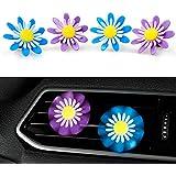 Eteng Car Solid Flower Aroma Diffuser Mini Vehicle Vent-Clip Air Freshener 2 Set