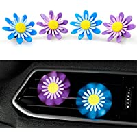 Eteng Car Solid Flower Aroma Diffuser Mini Vehicle Vent-Clip Air Freshener 2 Set
