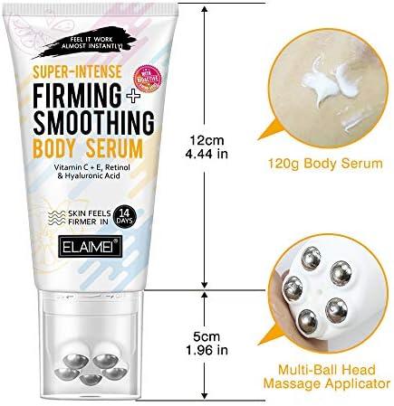 Suero corporal súper intenso reafirmante + suavizante con vitamina C y E, retinol y ácido hialurónico, la piel se siente más firme en 14 días