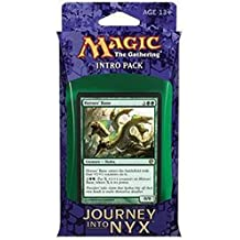 Magic the Gathering (MTG) Journey Into Nyx Intro Pack / Theme Deck - The Wilds and the Deep - Green (Includes 2 Booster Packs)