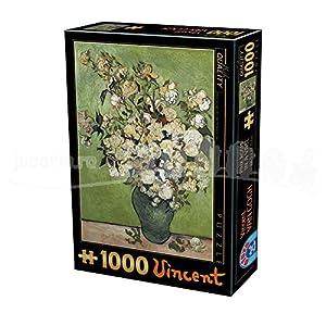 D Toys Puzzle 75871vg 12 1000 Pezzi Van Gogh Vincent Rose In Un Vaso