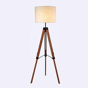 vbimlxft- Lámpara de pie de Madera Maciza de Tres pies ...
