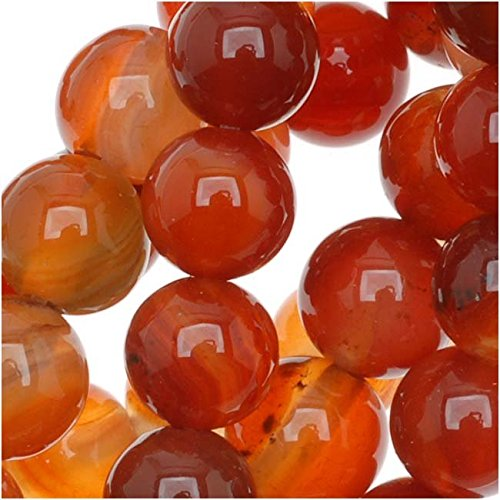 Beadaholique SPCA-28 Natural Carnelian Gemstone Round Beads, 15″/6mm 51dP2UO2BrL