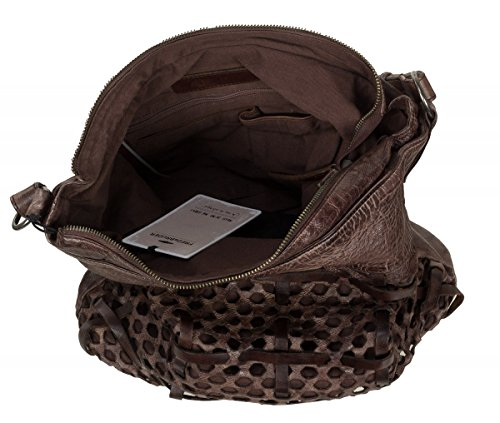 FredsBruder Functional Borsa hobo marrone scuro