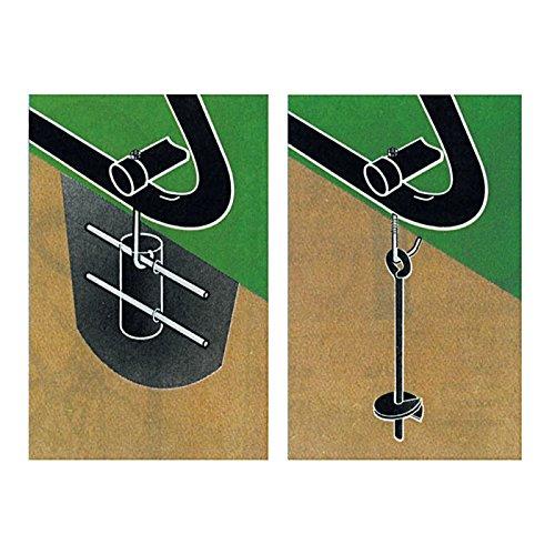 SARIS 6257 Cement/Asphalt Anchor Kit for All-Steel Grid Racks