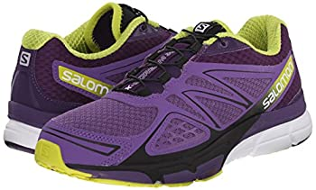Salomon Women's X-scream 3d W Trail Running Shoe, Rain Purplecosmic Purplegecko Green, 9 B Us 5