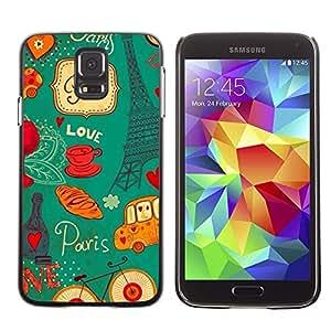 Be Good Phone Accessory // Dura Cáscara cubierta Protectora Caso Carcasa Funda de Protección para Samsung Galaxy S5 SM-G900 // Eifel Tower French France Paris